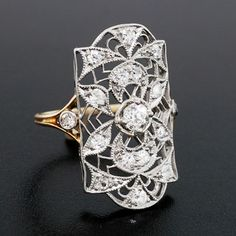 A Brandt and Son - Edwardian Platinum Topped 18kt Diamond Ring .25ct