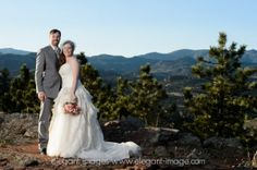 Our wedding day on top of the mountain and on top of the world! Lionscrest Mountain Private Venue Colorado Rocky Mountains! Lyons, Colorado.