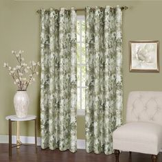 Ophelia & Co. Aldora Gray Area Rug & Reviews | Wayfair Printed Curtains, Grommet Curtains, Blackout Curtains, Drapes Curtains, Valance, Floral Room, Window Panels, Curtain Panels, Curtain Fabric