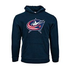 Levelwear Columbus Blue Jackets Suede Crest Eli Youth Pullover Hoodie Ym Navy