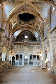 Located in Kayakoy, Greece, this church, as well as the entire town has been totally abandoned since 1923. Most people were forced out during the war between Greece and Turkey, leaving behind their homes and this church.