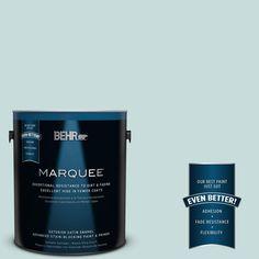 BEHR MARQUEE 1-gal. #S440-1 Sunken Pool Satin Enamel Exterior Paint, Blue Fir