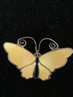 David Anderson. Sterling silver and enamel butterfly brooch. Sold March 2017.