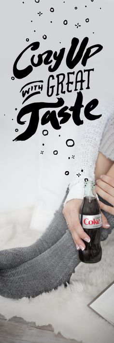 Who says cozy can't be ice cold? If you need us, we'll be cuddled up with our Diet Coke and a good book all day long.