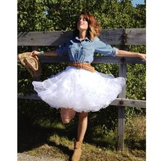 Western styling with the Malco Modes Edie petticoat