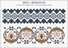 Semne Cusute: romanian traditional motifs - DOLJ & ROMANATI, Olt...