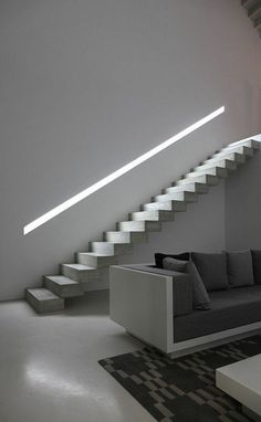If we talk about the staircase design, it will be very interesting. One of the staircase design which is cool and awesome is a floating staircase. This kind of staircase is a unique staircase because Floating Staircase, Modern Staircase, Staircase Design, Staircase Ideas, Staircase Remodel, Handrail Ideas, Stair Design, Interior Stairs, Interior Architecture