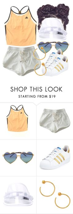 """""""7/12/16"""" by jasmineharper ❤ liked on Polyvore featuring adidas, Wildfox, Bernstock Speirs and A Peace Treaty"""
