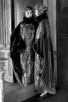 1920s Paul Poiret dress made of a lame silk fabric designed by Raoul Dufy.