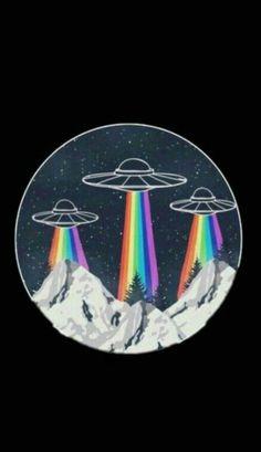 Alien Aesthetic, Aesthetic Space, Rainbow Aesthetic, Aesthetic Collage, Camping Aesthetic, Simple Aesthetic, Aesthetic Pastel, Christmas Aesthetic Wallpaper, Christmas Wallpaper