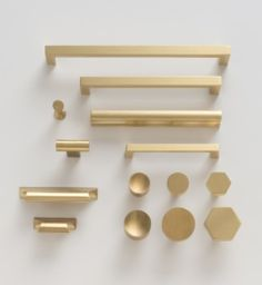 CONSIDERATION: Master bathroom pulls and knob combinations from SHE.