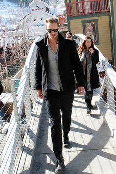 Alexander Skarsgard taking a stroll at the Sundance Film Festival 2013.