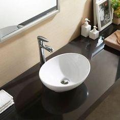 Oval Counter Top, Vanity, Ceramic, Bathroom, Cloakroom, Basin, Sink