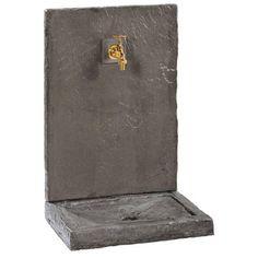 Fontaine ardoisée PM noire en pierre reconstituée 17240
