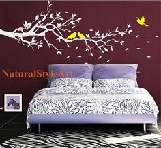 wall decals vinyl wall decal wall by NaturalStyleArt on Etsy, $48.00