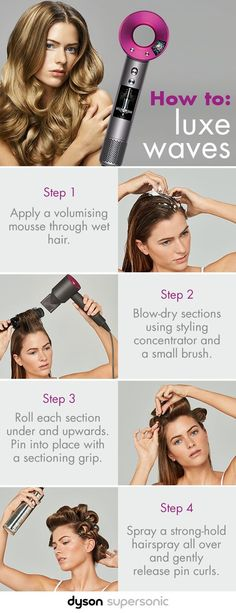 How-To: Luxe Waves | Dyson Supersonic Hair Dryer