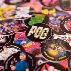 Pogs...I had a bunch, a big tube, we traded them, the shiny slammers were the cool part, I think there was some game...I have no idea what I actually did with them...