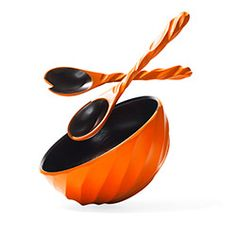 Enrico Products Spiral Salad Bowl and Servers - Oprah's Favorite Things 2013