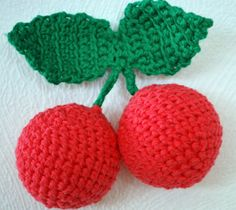 Cerejas de crochet