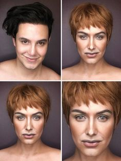 """Cersei Lannister - This Many-Faced Artist Turns Himself Into """"Game Of Thrones"""" Characters Using Only Make Up"""