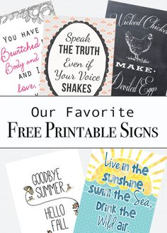 Our favorite free printables from ClumsyCrafter.com