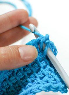 How to do Tunisian Knit Stitch #crochet #tunisian #tutorial #knit