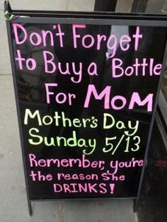 I hope I get some of my favorite Cupcake Vineyards wine for Mother's Day! lol