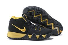 b1a383d39c13 Authentic Nike Kyrie 4 Black Gold Kyrie Basketball Shoe For Sale. William
