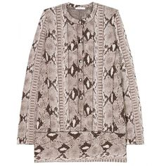 Chloé Snake Print Pullover ($593) ❤ liked on Polyvore