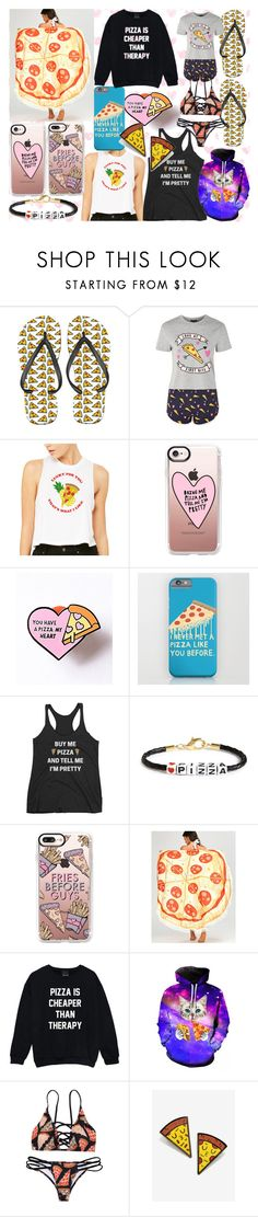 """Pizza pizza pizza"" by andieok on Polyvore featuring Topshop, Casetify, Ryan Porter, WithChic and pizza"