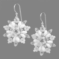 Star of the Snow Earrings | Fusion Beads Inspiration Gallery