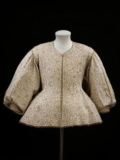17th century embroidered woman's jacket.  From the V&A museum.