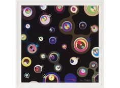 Takashi Murakami - Jellyfish Eyes Black 3 Poster - Gagosian Gallery