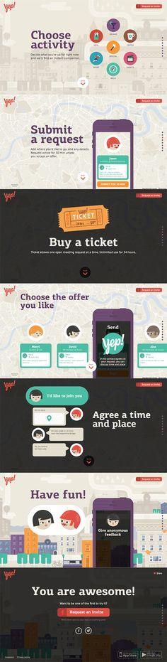 Yep! - Flat UI Design