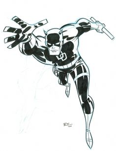 """Daredevil"" by Bruce Timm #brucetimm"