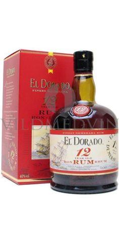 El Dorado Rum 12 Year Old : The Whisky Exchange El Dorado Rum, Crown Royal Drinks, Rum Tasting, Hard Drinks, Peach Drinks, St Patricks Day Drinks, Wine Supplies, Caribbean Rum, Whiskey Girl