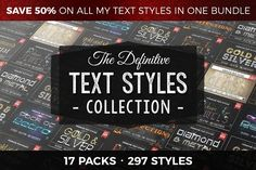 Definitive Text Styles Collection by Jonas Stensgaard Christmas Text, Campaign Logo, Affinity Designer, Free Text, Text Style, Text Effects, Text Me, Photoshop Actions, Psd Templates