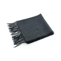 Dark Grey Lightweight Wool Scarf