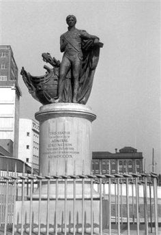 Lord Nelson in the Bull Ring Birmingham UK. Before the area was changed. Sutton Coldfield, Birmingham England, Walsall, The Old Days, West Midlands, Historical Photos, Statue Of Liberty, Past, Old Things