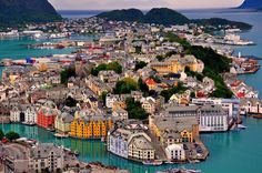 City of Alesund, Norway. Beautiful setting and such happy, carful buildings. A relaxing retreat!