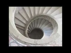Curved concrete stairs | Concrete stairs | Helical concrete stairs - Helical concrete stairs