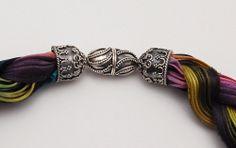 shibori ribbon jewelry | Shibori Girl — peacock necklace