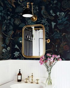 Vinyl Wallpaper, Self Adhesive Wallpaper, Wallpaper Size, Interior Wallpaper, Bathroom Wallpaper, Pink Plant, Botanical Wallpaper, Easy Wall, High Quality Wallpapers
