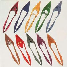"Andy Warhol ""Shoe illustration for Harper's Bazaar"" 1958"