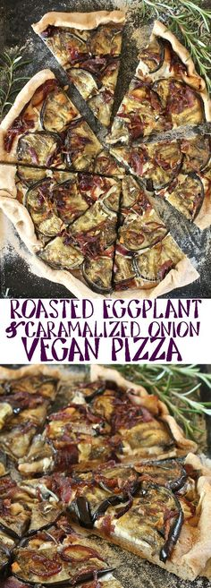 Use up those late summer vegetables and make this vegan Roasted Eggplant and Caramelized Onion Pizza for dinner. Click the picture for the full recipe.(Vegan Casserole Cauliflower)