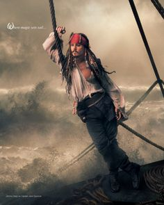 """Where magic sets sail"" – Johnny Depp as Jack Sparrow – Disney Dream Portrait by Annie Leibovitz"