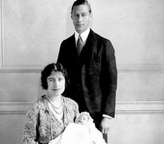 Christening of HMThe Queen, born Princess Elizabeth of York at 2.40am on 21 April 1926 at 17 Bruton Street, Mayfair, London.    She was the first child of The Duke and Duchess of York, who were later crowned King George VI and Queen Elizabeth.  The Princess was christened Elizabeth Alexandra Mary in the private chapel at Buckingham Palace.