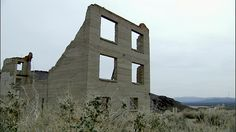 Shots Of Broken Buildings In The Abandoned Desert Ghost Town Of ...
