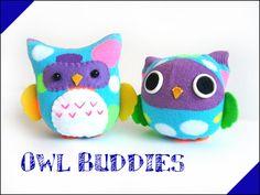 Sock dolls PDF pattern - Owl Buddies