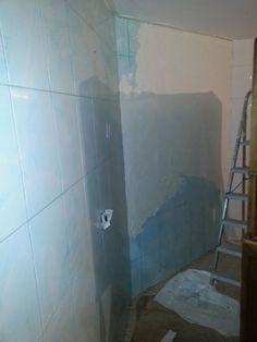 cmo cubrir una pared de azulejos con estuco